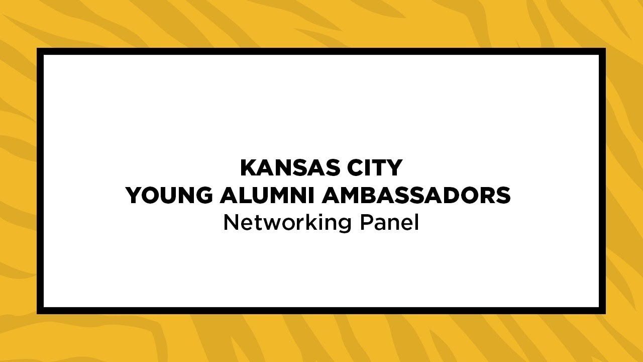 Image for Kansas City Young Alumni Virtual Series: Networking Panel webinar