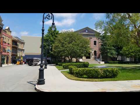 Universal Studios Hollywood - Courthouse square 2018