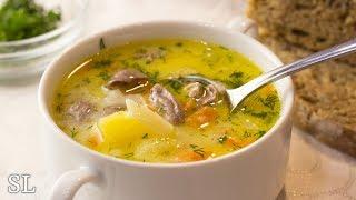 Бесподобный Сырный Суп с Куриными Сердечками! Всегда Вкусно! Рецепт!