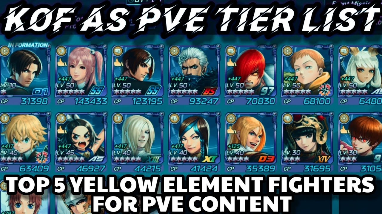 Download PVE Tier List: Top 5 Yellow Element Fighters in the King of Fighters Allstar for PVE - KoF AS