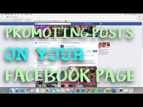 promoting ads on your facebook page