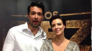 A Entrevista   «Os Dez Mandamentos» - Camila Rodrigues e Sérgio Marone