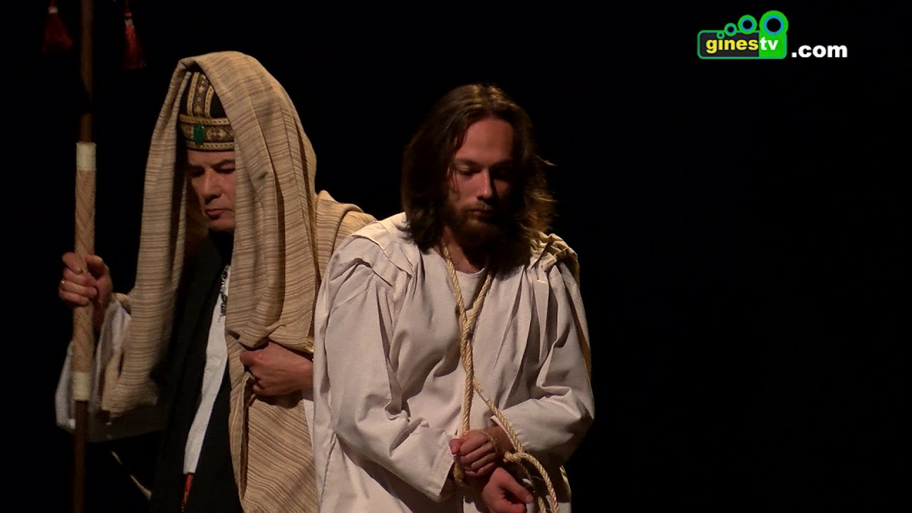 """Gines comenzó a vivir la Semana Santa con la representación de """"La Pasión de Cristo"""""""