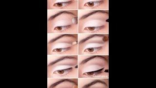 Свадебный макияж для темно карих глаз