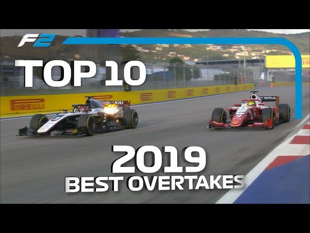 Top 10 Overtakes   2019 FIA Formula 2 Season