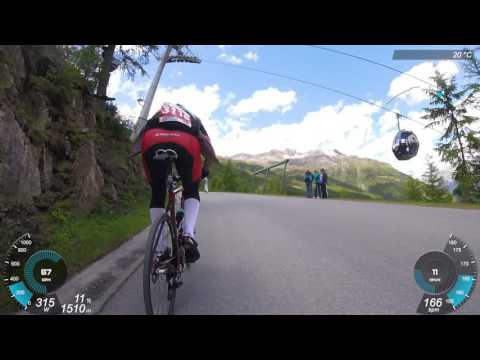 Tour de Suisse Challenge. Stage 3. Rettenbachfehrer. Steep witch. GoPro footage with GPS/Power