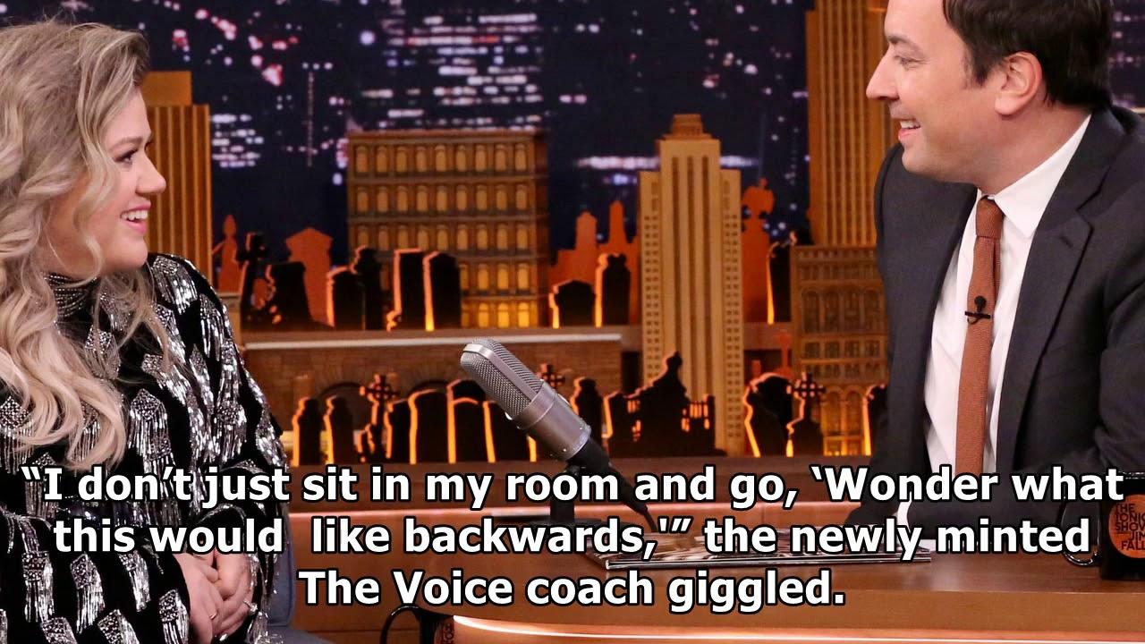 Kelly clarkson sings since u been gone backwards for