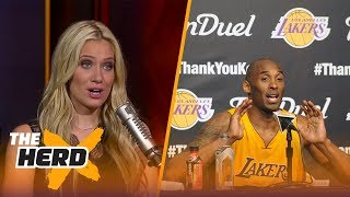 Kobe Bryant is going to have two jerseys retired by the Lakers - Kristine and Colin react | THE HERD