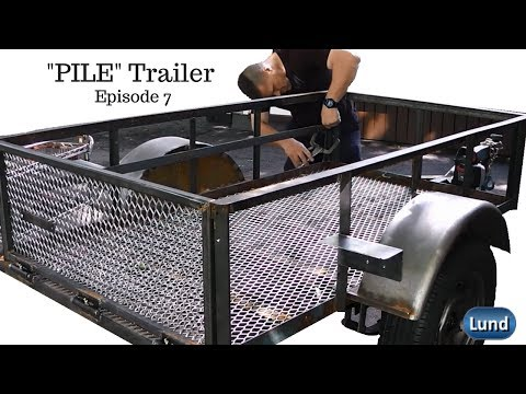 The PILE Trailer Rebuild Series E 7  Tailgate Hinges, Taillights and Sides!