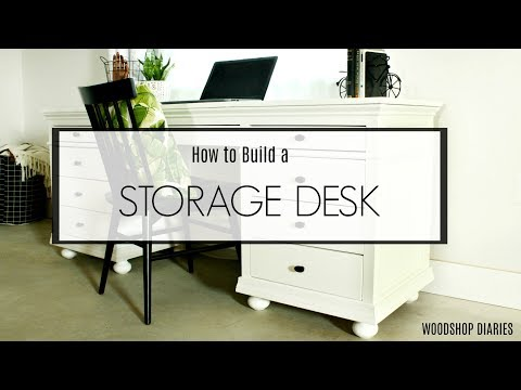 How to Build a DIY Storage Desk with Drawers