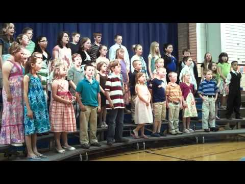 """The Bern Elementary school sings it's final song, """"Our Family"""""""