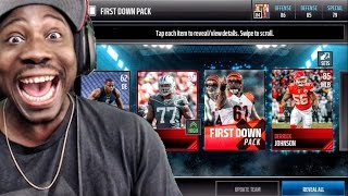 MY 1ST LEGEND PULL IN FIRST DOWN PACK OPENING! Madden Mobile 17 Gameplay Ep. 6