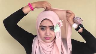 #44 Hijab Tutorial   Natasha Farani  Paris Segiempat   Square Scarf