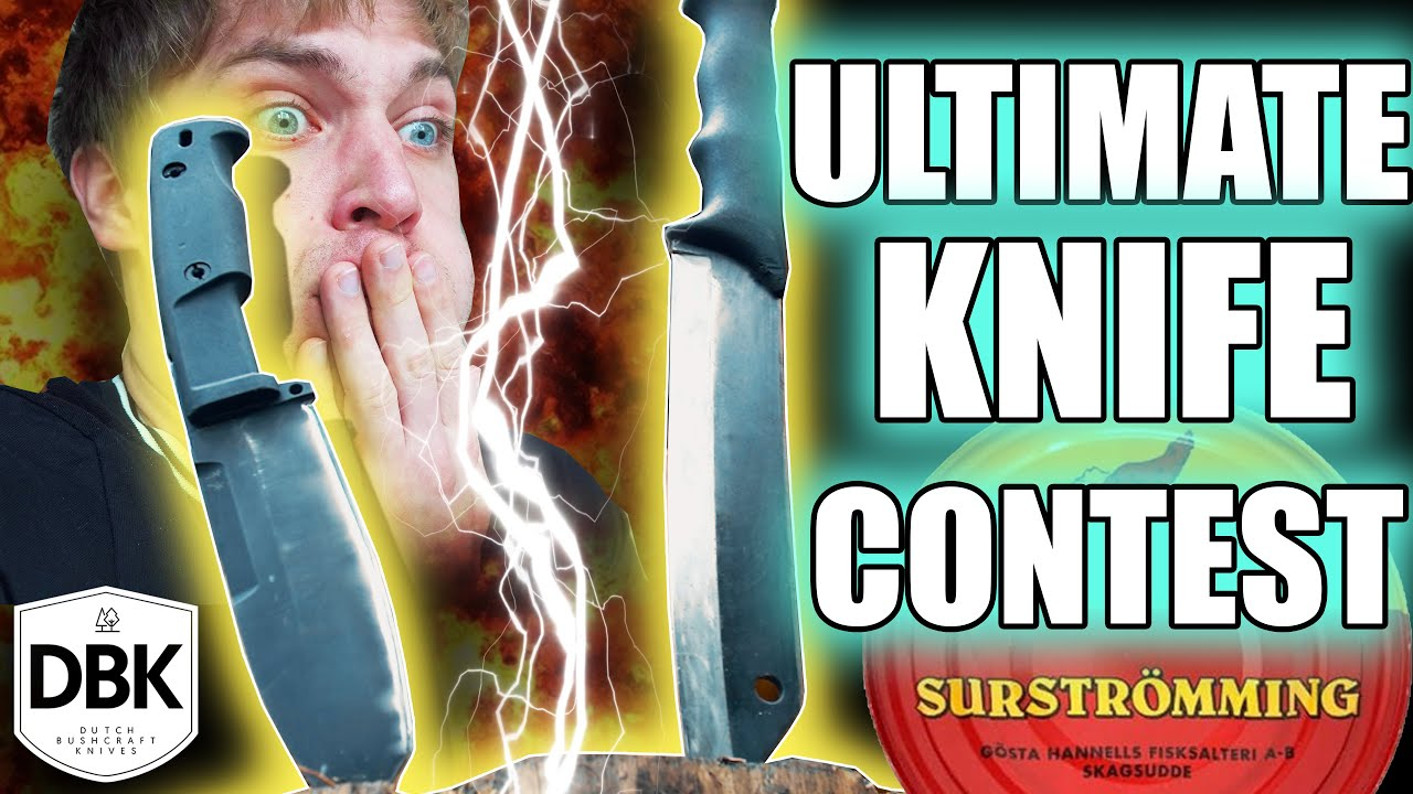 THis is THE ULTIMATE KNIFE TEST! | Extrema Ratio Selvans VS Skrama (Loser eats Surstromming)