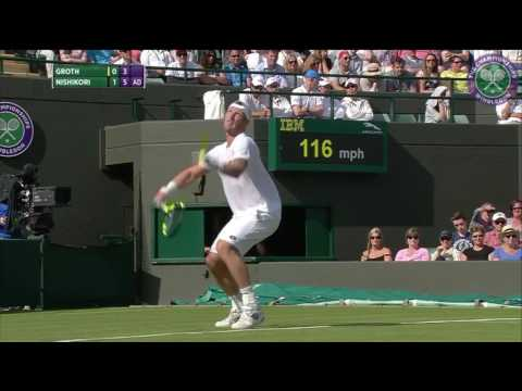 2016, Day 1 Highlights, Kei Nishikori vs Sam Groth