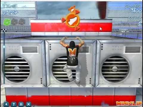 Обзор на Флеш игру Free Running 2(Свободный бег)паркур №4