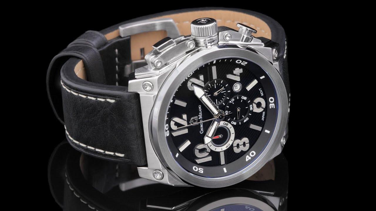 Giorgio milano 960st032 47mm textured black dial quartz for Giorgio iv milano