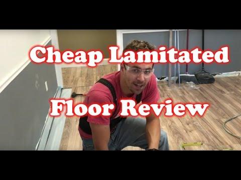 Review of Lakeshore Pecan - $0.79/SF Cheap Laminated Flooring - Home Depot