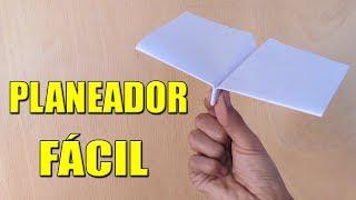 Como Hacer un Avión de Papel Planeador que Vuela Mucho y Lejos -  How To Make Paper Plane