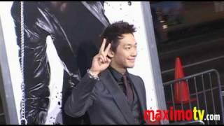 "Jeong ""Rain"" Ji-hoon arriving at Los Angeles Premiere of 'NINJA ASS..."