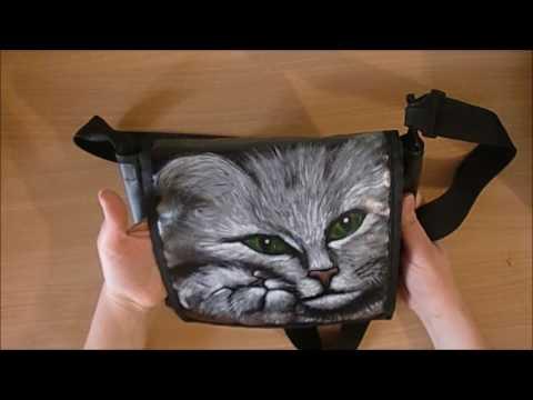 Как переделать сумку - рисунок АКРИЛОВЫМИ красками