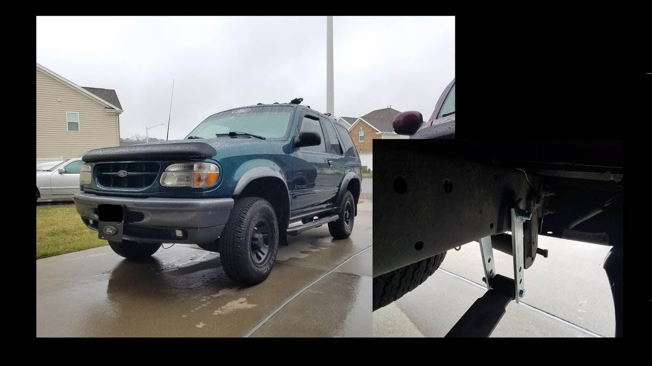 Instailling 2 Inch Lift On A Ford Explorer Youtube