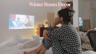 ROOM DECOR #7 내 방의 빔프로젝터, 핑크 네…