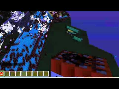 blowing up my brothers house with tnt minecraft