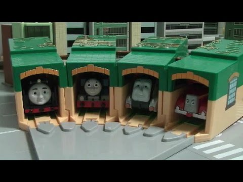 thomas and friends garage toys youtube
