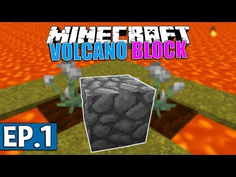 ENTOURÉ DE LAVE | Minecraft Moddé - Volcano Block | Ep# 1