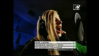 Avril Lavigne Recording The Spongebob Squarepants Theme Official Music Video
