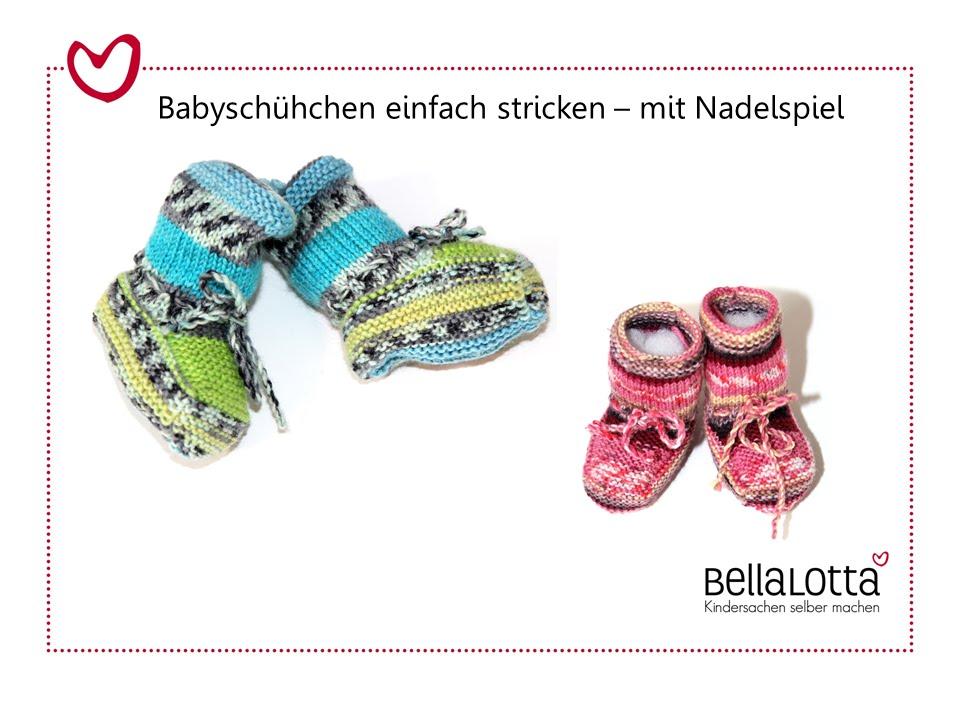 Babyschuhe stricken - mit Nadelspiel - für Anfänger - YouTube