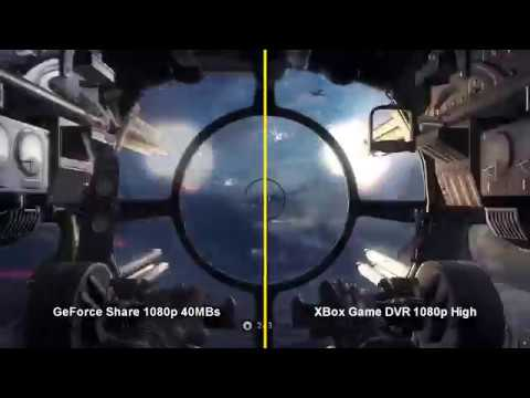GeForce Share and Xbox Game DVR Visual Comparison at 1080p