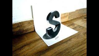 How to draw 3D Letter S - 3D Letter Drawing - Art Maker Akshay