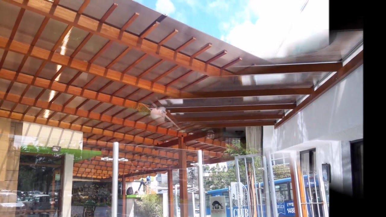 Pergolas en madera con policarbonato youtube - Pergolas de madera ...