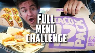 "THE ""SUPERCHARGED"" TACO BELL MENU CHALLENGE!"