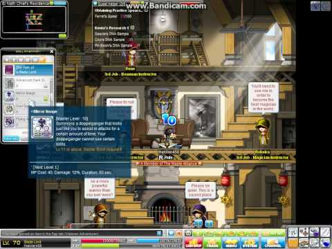 MapleStory my db's 3rd(Lv. 70) job advacement (Part 2)
