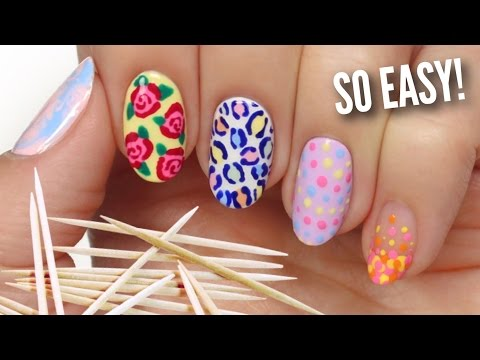 Nail Art For Beginners Using Toothpick