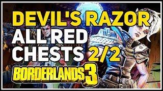 All Red Chests Devil's Razor Borderlands 3