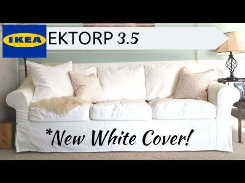 Ektorp 3.5 | * New White Cover* | Putting It On! 😃