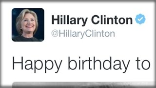 TWITTER USERS MOCK HILLARY CLINTON FOR WISHING HERSELF A HAPPY BIRTHDAY