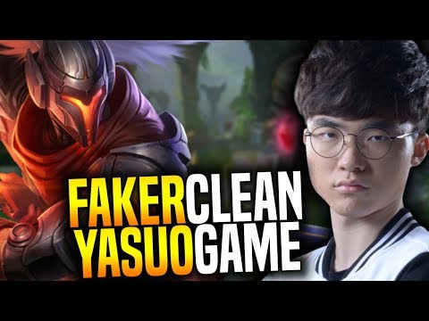 FAKER Plays YASUO and it's so CLEAN! - SKT T1 Faker SoloQ Playing Yasuo Mid! | SKT T1 Replays
