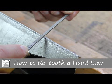 How to Re-tooth a Hand Saw