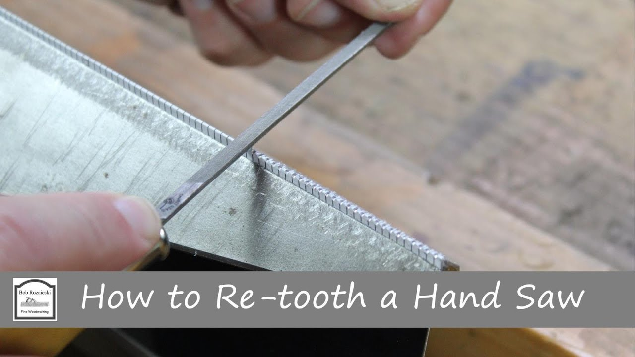 How To Re Tooth A Hand Saw Youtube