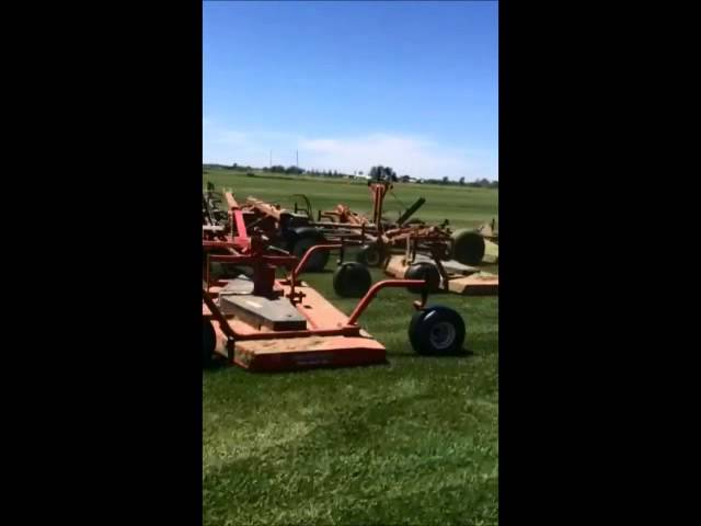 Mowing Turf at Red Hen Turf Farm on 6/3/14