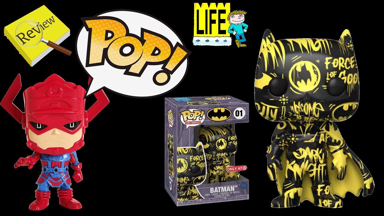 Batman Black /& Yellow Artist Series #01 Pop Vinyl Figure with Pop Pro Batman