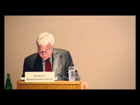 Kamran Djam 2012 Annual Lecture at SOAS: The Exilic Mode in Persian Literature part 1