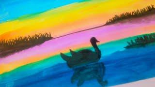 رسم منظر للمبتدئين بالألوان المائية Mp3