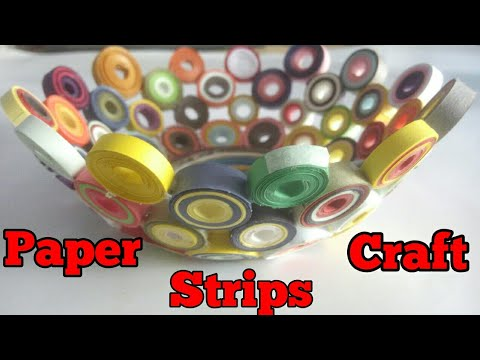How To Make A Paper Quilling Bowl Paper Quilling Craft Paper