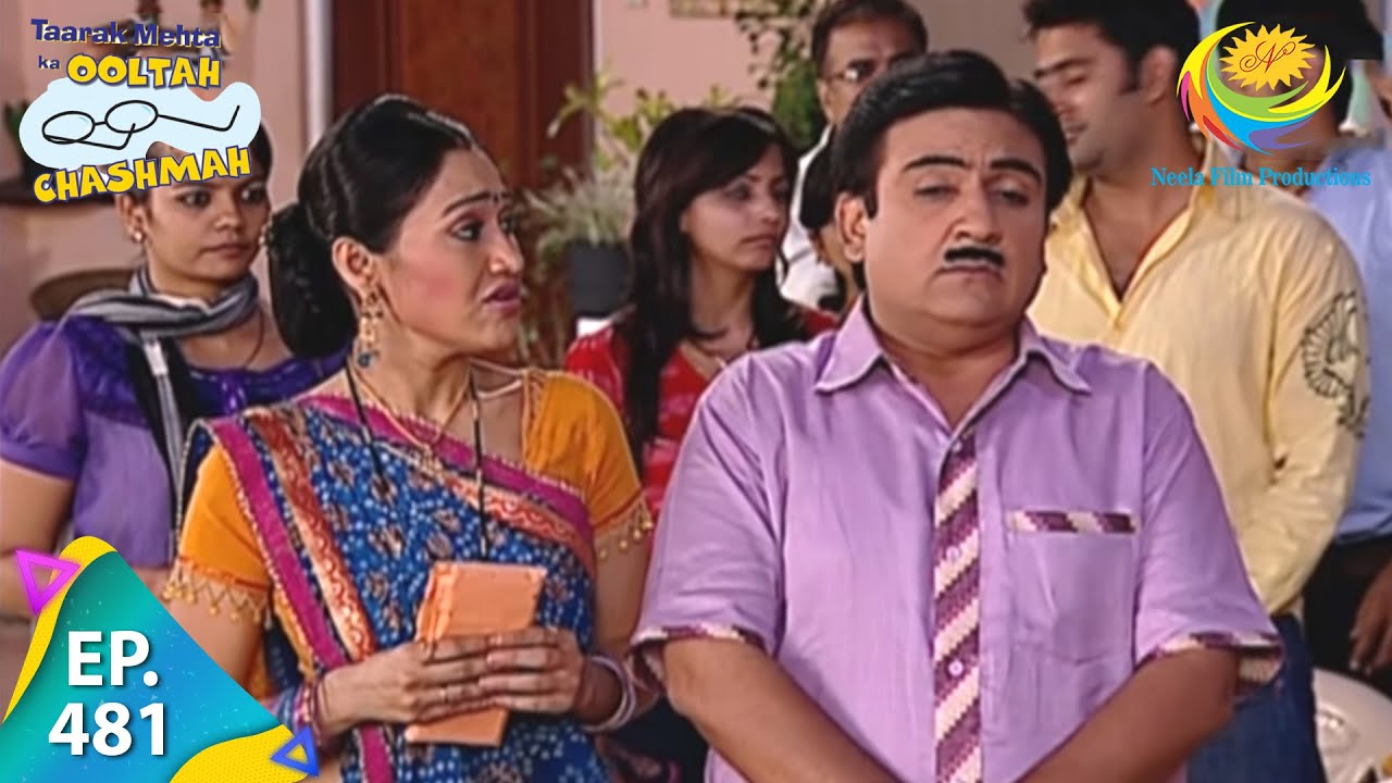 Download Taarak Mehta Ka Ooltah Chashmah - Episode 481 - Full Episode
